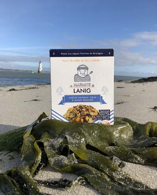 poelee-poireau-soja-algue-wakame La Marmite de Lanig